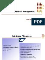 Presentation on SAP MM