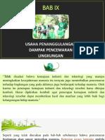 [Salinan Buku] BAB IX Usaha Penanggulangan Dampak Pencemaran Lingkungan