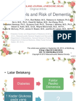 Glucose and Dementia - Geriatri Jurnal