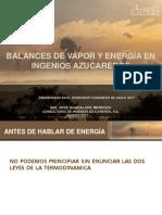 Balances de Vapor y Energía en Ingenios Azucareros