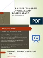 All About Css and Its Advantage and Disadvantage