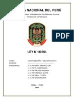 Ley N°30364