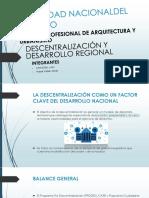 Descentraliza y Desarrollo Regional