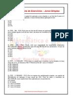 Lista de exercicios juros compostos