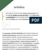 Função Hiperbólica – Wikipédia, A Enciclopédia Livre