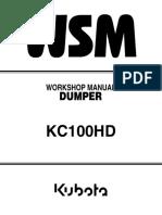 KUBOTA KC100HD DUMPER Service Repair Manual.pdf