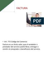 Factura Derecho Comercial