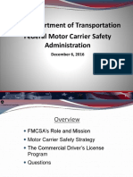 TRANSPORTATION SAFETY FMCSA