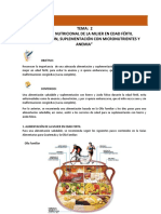 2. Atención Nutricional de La Mujer en Edad Fértil, Alimenta. Supl, y Anemia