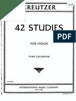 Kreutzer 42 Studies Galamian edition