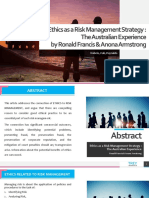 Ethics as a Risk Management Strategy