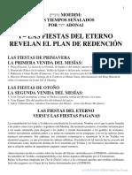 Las Fiestas Del Eterno Revelan El Plan de Redención