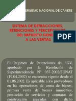 Semana 7 Sistema de Retenciones Percepciones y Detracciones Del Igv
