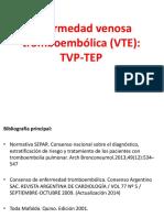 Clase Enfermedad Venosa Tromboembólica (VTE) Resumido