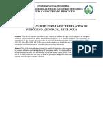 Métodos de Analisis Para La Determinación de Nitrógeno Amoiacal en El Agua