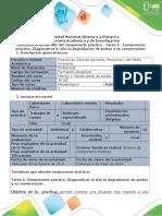 Guía Para El Desarrollo Del Componente Práctico –Tarea 5 - Componente Práctico. Diagnosticar in Situ La Degradación de Suelos y Su Conservación.