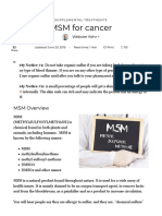 MSM Treatment for Cancer - Benefits, Safety & Protocols