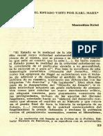El Estado Visto Por Karl Marx. Rubel.