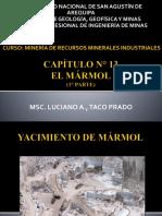 1. CAPÍTULO N° 13 - EL MÁRMOL - 1° PARTE