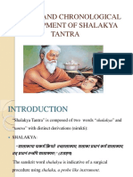 History and Chronological Development of Shalakya Tantra