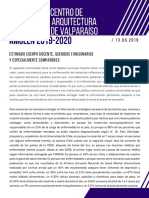 COMUNICADO CENTRO de ESTUDIANTES Arquitectura Universidad de Valparaíso AMULÉN (2)