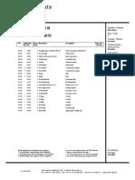 013684 Parts List