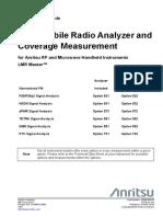 Land Mobile Radio Analyzer and Coverage Measurement