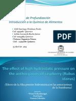 Efecto de la Alta presión hidrostática en las antocianinas de la frambuesa