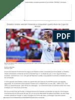 Estados Unidos Vencem Holanda e Conquistam Quarto Título Da Copa Do Mundo - 07-07-2019 - UOL Esporte