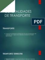 Generalidades de Transporte.