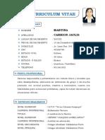 Curriculum Vitae Giovana Cuya Sulca