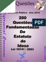 200 Questões Estatuto Do Idoso