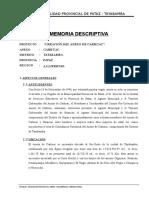 Memoria Creacion Anexo de Carhuac