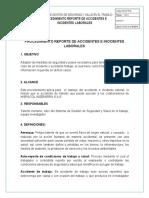 Procedimiento Reporte de Accidente e Incidente de Trabajo - Transito