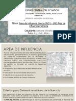 Área de influencia directa (AID )– (AII) Área de influencia indirecta