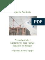 Guía Procedimientos Sustantivos Para Pymes Basados en Riesgos Propiedad, Planta y Equipo