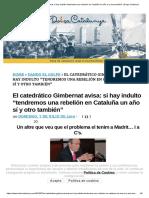 El Catedrático Gimbernat Avisa_ Si Hay Indulto _tendremos Una Rebelión en Cataluña Un Año Sí y Otro También_ _ Dolça Catalunya