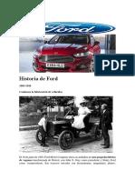 Historia de Ford
