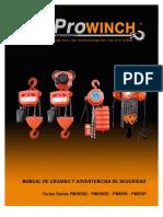 Prowinch Tecle Electrico Manual Tecles Series Pwhhxg Pwhhdd Pwdhp y Pwdhk 613736