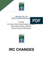 Code Changes 1209