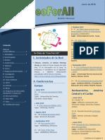 Boletín GeoForAll Junio 2019 en Español