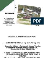 """""""IMPACTO AMBIENTAL DE MINERÍAS A PEQUEÑA ESCALA Y ARTESANAL, EN CUENCAS HIDROGRÁFICAS INTERNACIONALES CASO DISTRITO MINERO PORTOVELO-ZARUMA, ECUADOR"""""""