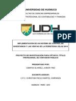 IMPLEMENTACIÓN DE UN SISTEMA DE CONTROL DE INVENTARIOS Y LAS VENTAS DE LA FERRETERIA VELOZ 2019
