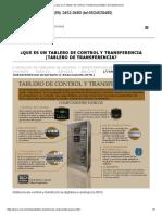 ¿Que Es Un Tablero de Control y Transferencia _Tablero de Transferencia