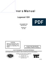 Owners Manual Logwood 1261 Stove