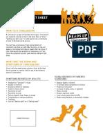 Concussion Fact Sheet for Parents