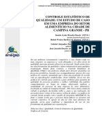 Controle Estatìstico Ec Qualidade Um Estudo de Caso Em Uma Empresa Dos Sector Alimenticio Na Cidade de Campina Grande Pb