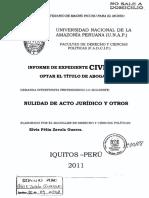 Informe de expediente civil. Nulidad de acto jurídico y otros..pdf