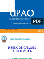 DISEÑO DE CANALES DE IRRIGACION