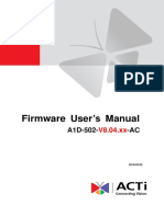 firmware user manual ACTi Camera